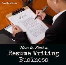 resume writing business