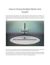 Best Kitchen Sink Faucet Design