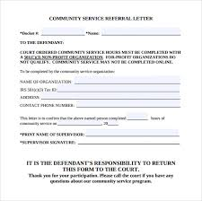 community service verification form for court sample community service letter 22 download free documents in pdf