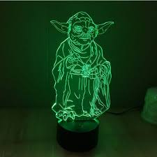 Yoda <b>Master 3D</b> LED Lamp | 3D LED Lamp | 3d light, <b>Star wars</b> ...