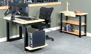 computer desk cord management corner with cable table wire