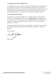 Letter From Gmc Chief Executive Niall Dickson Following Your