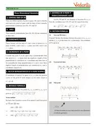 Math Formula Chart For Geometry Class 12 Maths Revision Notes For Three Dimensional Geometry