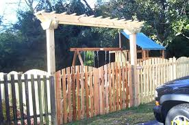 Double fence gate Designs Fence Arbor This Is Custom Made Arbor Over Double Fence Gate Fence Arbor Plans Failed Oasis Fence Arbor This Is Custom Made Arbor Over Double Fence Gate