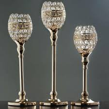 chandelier candle holder tall crystal beaded goblet votive tealight wedding centerpiece gold candles holders