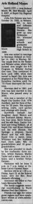 Obituary for Avis Holland Moore, 1920-2007 (Aged 86) - Newspapers.com