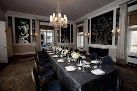 contemporary dining room wall decor. Amazing Contemporary Dining Room With Wall Decor Furnished Crystalist Chandelier Lightings Also Completed