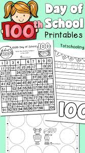 100th Day of School Printables | Totschooling - Toddler, Preschool ...