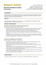 Business Intelligence Analyst Resume Cool Business Intelligence Analyst Resume Samples QwikResume