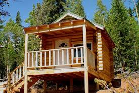 Wondrous Small Log Home Plans With Loft Using Large Fixed Glass Small Log Home Designs