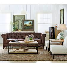 Living Room Design With Brown Leather Sofa Home Decorators Collection Gordon Brown Leather Sofa 0849400760