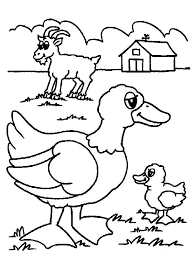 Animal Coloring Pages For Preschoolers Farm Animal Coloring Pages