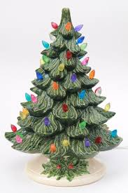Ceramic Christmas Tree Lighted Electric Tabletop Tree Lamp W Ceramic Tabletop Christmas Tree With Lights