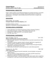 Entry Level Accounting Resume Objective Free Resume Templates 2018