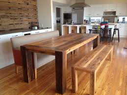 Kitchen  Hay Dining Room Set With A Bench Kitchen Booth Table - All wood dining room sets