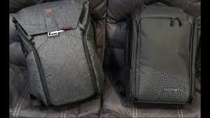 Peak Design Vs Nomatic Backpack Vs Peak Design Backback