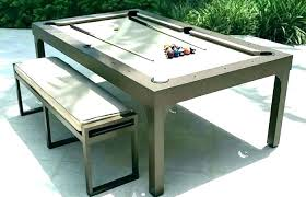outdoor pool table cover best teak with benches tables for grand