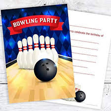Bowling Party Invitation Olivia Samuel Bowling Party Birthday Invitations Kids Ten Pin