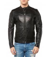 men coat belstaff v racer leather jacket black 69gtw1dbi