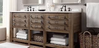 restoration hardware bathrooms. Vanity -- RH Mercantile With Knobs + Label Slots Restoration Hardware Bathrooms A
