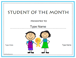 Student Of The Month Certificate Templates Certificate Street Free Award Certificate Templates No