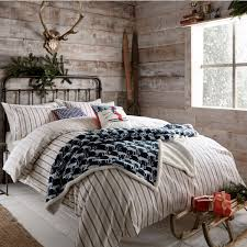 flynn bedding in navy and red striped flannel bedding decorative