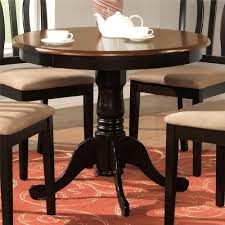 Black Cherry 36quot Pedestal Small Dining Table Kitchen Cherry