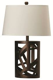 furniture coaster contemporary table lamp with fabric shade