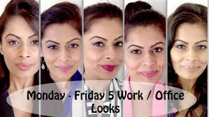 5 easy quick work office looks from monday to friday indian beauty makeup guru you
