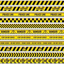 Black And Yellow Stripes Border Black And Yellow Police Stripe Border Vector Premium Download