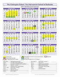 2018 2019 Academic Calendar Template Williamson County