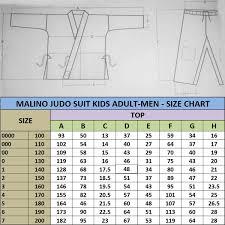 Judo Suit Size Chart Malino Lightweight Kids Student Judo Suit Poly Cotton 350gsm