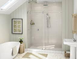 proline frameless by pass frameless steam shower enclosure frameless sliding barn door
