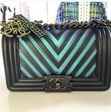 chanel handbags 2017. chanel black/turquoise chevron boy bag handbags 2017 w