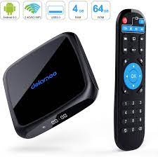 Buy Android 9.0 TV Box,D18 Smart TV Box 4GB RAM 64GB ROM Amlogic Quad Core  64bit,Support 2T2R Dual Band WiFi 5G 2.4G/HDR H.265 3D 4K@60fps,USB 3.0  HDMI 2.1Media Player Box Online in
