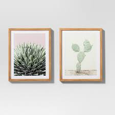 framed cactus wall print 2pk white green 20 x16 project 62  on cactus wall art framed with framed cactus wall print 2pk white green 20 x16 project 62 target