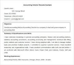 Accounting Director Resume Objective Template Website With Photo