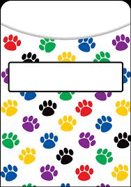 Paw Print Library Pockets Paw Prints Clipart Full Size