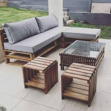 Beauteous Outdoor Furniture Using Pallets Set With Exterior Minimalist Wood  Pallet Lounge