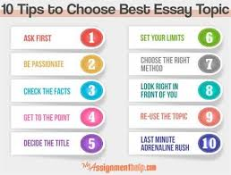here are some strategies for choosing an essay topic how to choose an essay topic