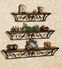 wa0051 wrought iron wall shelves
