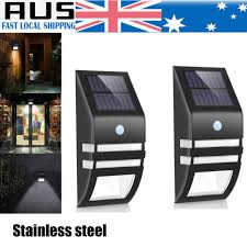 2x led solar power pir motion sensor light outdoor garden security wall light au