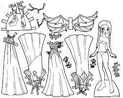 Small Picture Fabulous Doll Dress Coloring Pages Coloring Sky