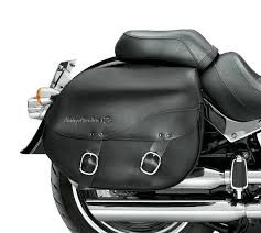 harley davidson leather saddlebags detachables smooth