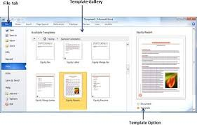 Use Templates Use Templates In Word 2010 Tutorialspoint