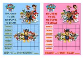 Paw Patrol Reusable Reward Chart Stickers Pen Good Behaviour Potty Training