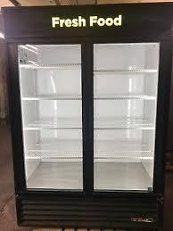 2 door cooler glass display true cooler refrigerator merchandiser beverage