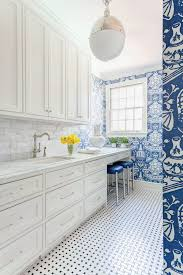 laundry room office design blue wall. Blue And White Laundry Room/bold Wallpaper Room Office Design Wall A