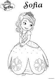 Coloriage Princesse Sofia Disney Dessin