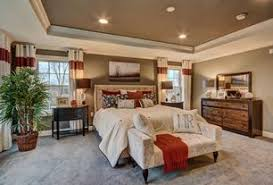 Transitional Master Bedroom with Stephanie Upholstered Headboard, Herve  Chaise Lounge in Pastis, Carpet,